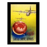Vías aéreas del imperio de Qantas Tarjetas Postales