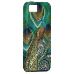 Vibe Vintage Damask Peacock Feathers iPhone 5 iPhone 5 Cover
