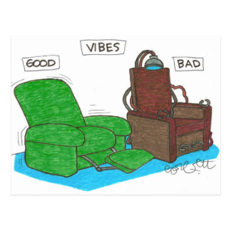 Vibes: GOOD...BAD. Postcard