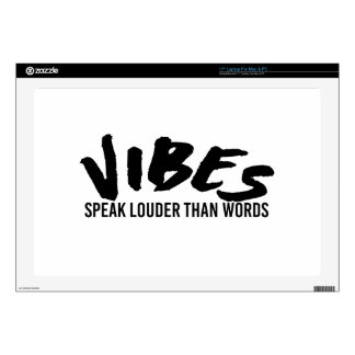 Vibes Speak Louder Than Words Decals For Laptops