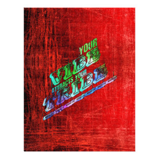 vibes tribes slogan saying patter red green blue flyer