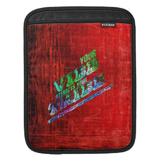 vibes tribes slogan saying patter red green blue sleeve for iPads