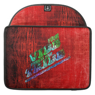 vibes tribes slogan saying patter red green blue sleeve for MacBook pro