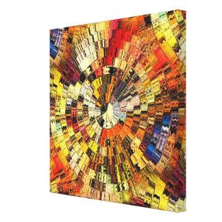 Vibraciones del color impresiones en lienzo estiradas