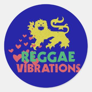 Vibraciones del reggae etiqueta redonda