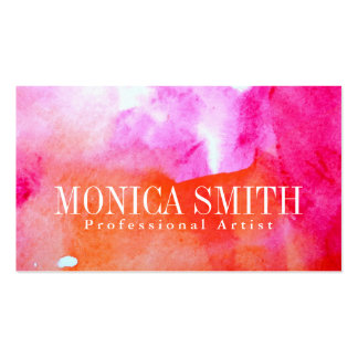 Vibrancy Watercolor Business Card +