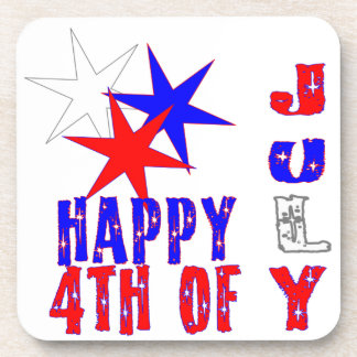 Vibrant 4th of July Coasters