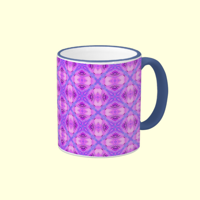 Vibrant Abstract Modern Violet Lavender Lattice Coffee Mug
