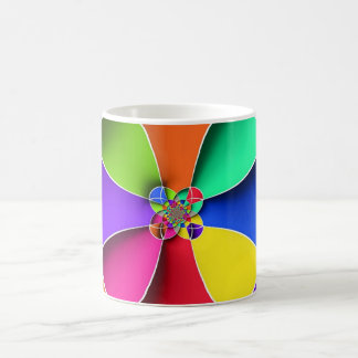 Vibrant  Abstract Psychedelic Colored Art Coffee Mug