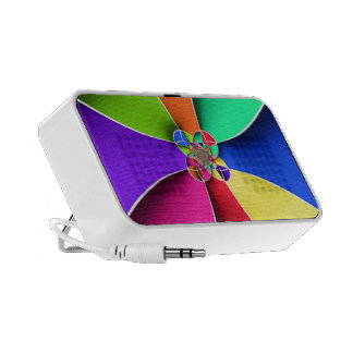 Vibrant Abstract Psychedelic Colored Art Mini Speakers
