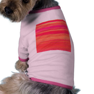 Vibrant Abstract Sunset Paint Strokes Pattern Dog Clothing