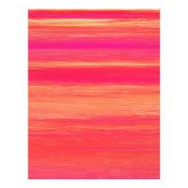 Vibrant Abstract Sunset Paint Strokes Pattern Flyer