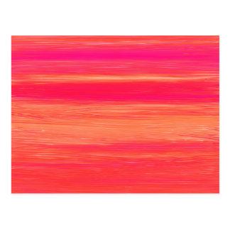 Vibrant Abstract Sunset Paint Strokes Pattern Postcard