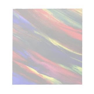 Vibrant Acrylic Abstract Memo Pad