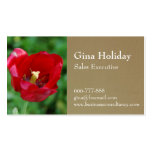 Vibrant and beautiful red flower business cards