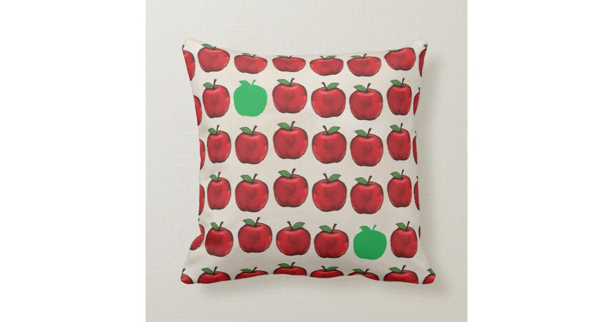 Vibrant Apples Throw Pillow Zazzle