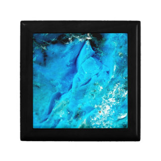 Vibrant Aqua Blue Mineral Stone Gift Box