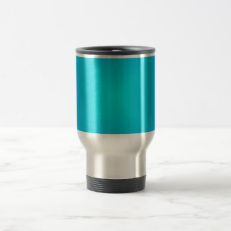 Vibrant Aqua Blue Travel Commuter Mug
