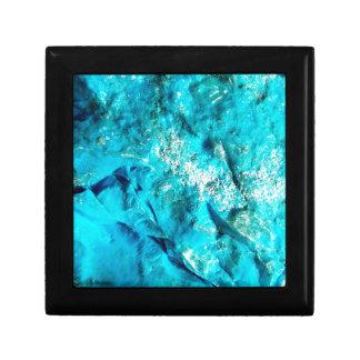 Vibrant Aqua Blue Turquoise Mineral Stone Keepsake Box