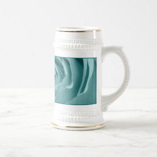 Vibrant Aqua Rose, Floral Nature Photograph Beer Stein