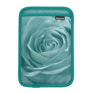 Vibrant Aqua Rose, Floral Nature Photograph Sleeve For iPad Mini