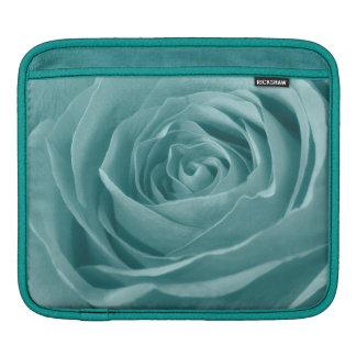 Vibrant Aqua Rose, Floral Nature Photograph Sleeve For iPads
