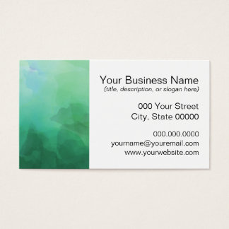 Vibrant Aquamarine Watercolor Background Business Card