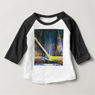 Vibrant Artistic Driftwood by Waterfall Baby T-Shirt