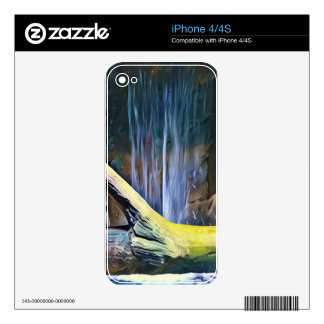 Vibrant Artistic Driftwood by Waterfall Skins For The iPhone 4