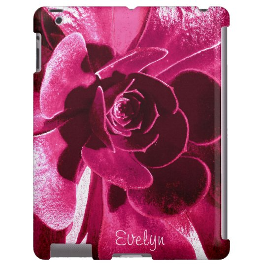 Vibrant Artsy Hot Pink Petals with Name