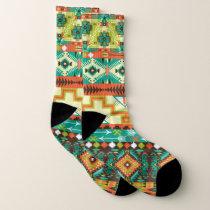 Vibrant Aztec Pattern Socks
