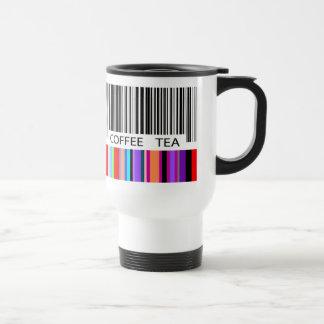 Vibrant Bar Code 15 Oz Stainless Steel Travel Mug