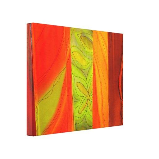 VIBRANT BATIK SCARVES PHOTO on Wrapped Canvas Canvas Print