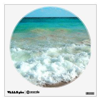 Vibrant Beach Watercolor Scene Wall Skin