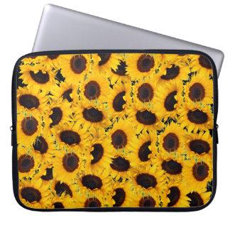 Vibrant Beautiful Sunflowers Nature Floral Prints Laptop Computer Sleeve
