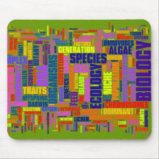 Vibrant Biology Wordle Mouse Mat