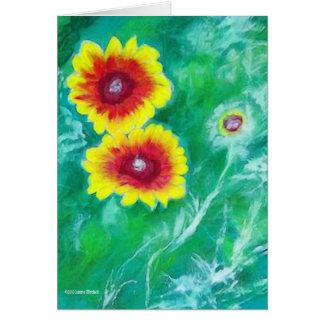 Vibrant Blanket Flowers Card