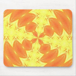 Vibrant & Blood Orange Kaleidoscope Mouse Pad