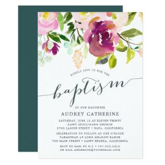 Vibrant Bloom | Baptism Invitation