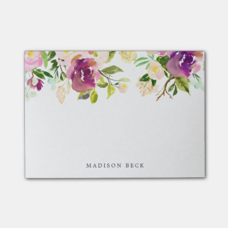 Vibrant Bloom Personalized Post-it Notes