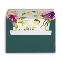 Vibrant Bloom Pre-Printed Return Address 5x7 Envelope