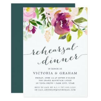 Vibrant Bloom Rehearsal Dinner Invitation