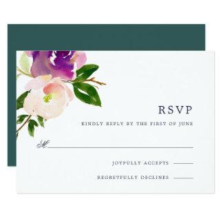 Vibrant Bloom RSVP Card