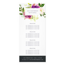 Vibrant Bloom Watercolor Floral Pricing/Services Rack Card