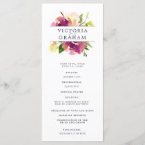 Vibrant Bloom Wedding Ceremony Program