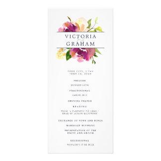 Vibrant Bloom Wedding Ceremony Program