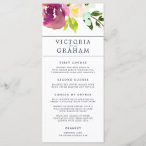 Vibrant Bloom Wedding Menu Card