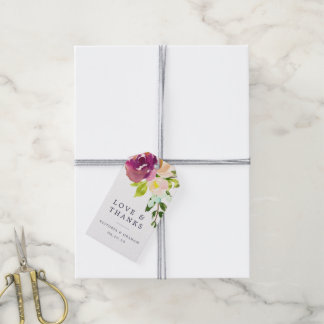 Vibrant Bloom Wedding Thank You Gift Tags
