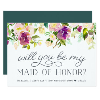Vibrant Bloom   Will You Be My Maid of Honor Card