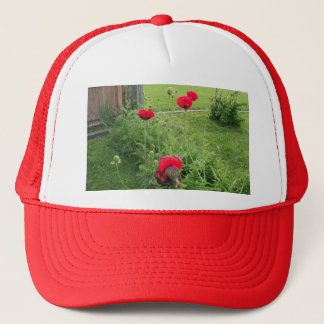 Vibrant Blooming Red Poppies Trucker Hat